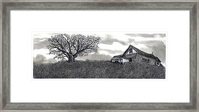 Abandoned Prairie Farmhouse Framed Print
