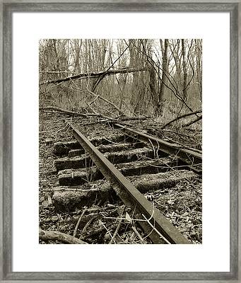 Abandoned Railroad 2 Framed Print by Scott Hovind