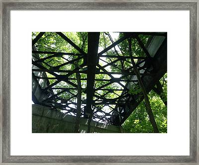 Abandoned Railroad Bridge Framed Print