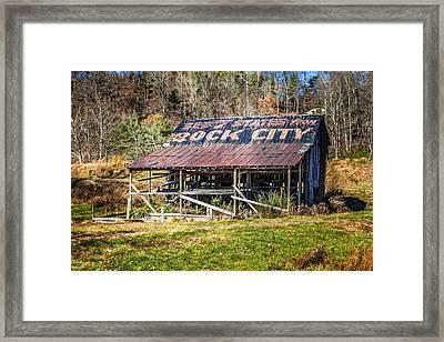 Abandoned Rock City Barn Framed Print