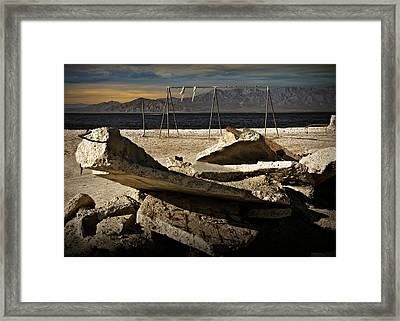 Framed Print featuring the photograph Abandoned Ruins On The Eastern Shore Of The Salton Sea by Randall Nyhof