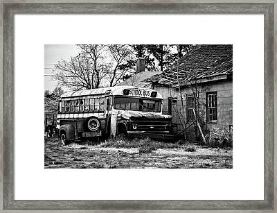 Abandoned School Bus Framed Print