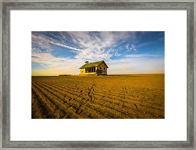 Abandoned School House Framed Print by Penny Miller