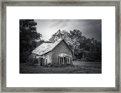 Abandoned Schoolhouse Framed Print