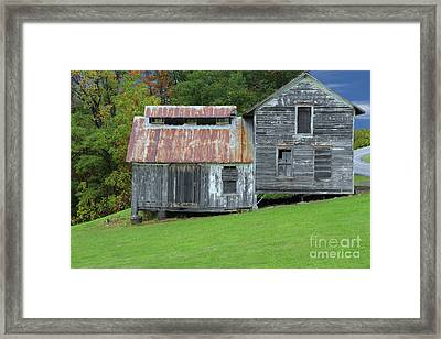 Abandoned Shack By The Road Framed Print by Allen Beatty