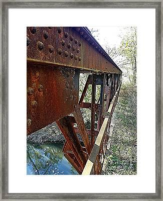 Abandoned Steel Bridge Nashville Indiana Framed Print