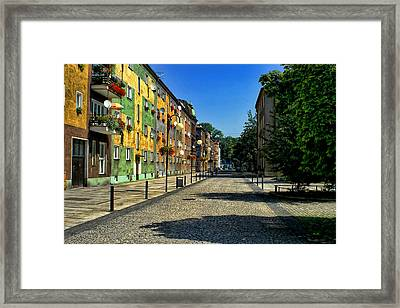 Framed Print featuring the photograph Abandoned Street by Mariola Bitner