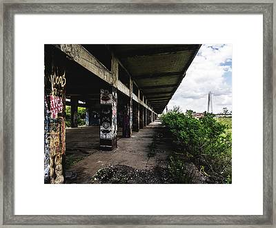 Abandoned Structure - Laclede's Landing Framed Print by Dylan Murphy