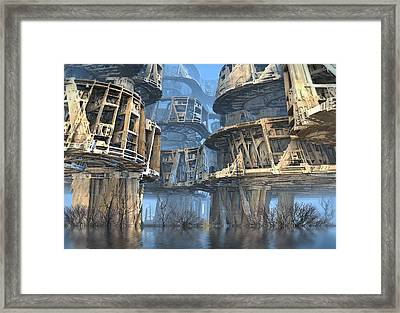 Abandoned Swamp Village Framed Print