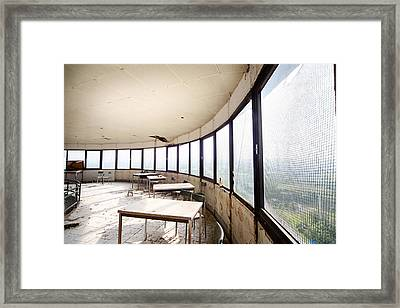 Abandoned Tower Restaurant - Urban Decay Framed Print