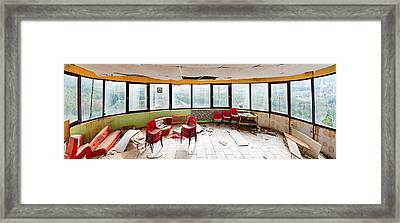 Abandoned Tower Restaurant - Urban Panorama Framed Print by Dirk Ercken