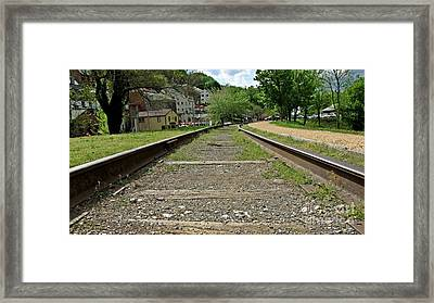 Abandoned Track At Harpers Ferry Framed Print