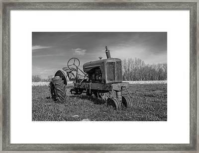 Abandoned Tractor Framed Print by William Morris