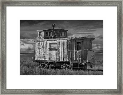 Abandoned Train Caboose Framed Print
