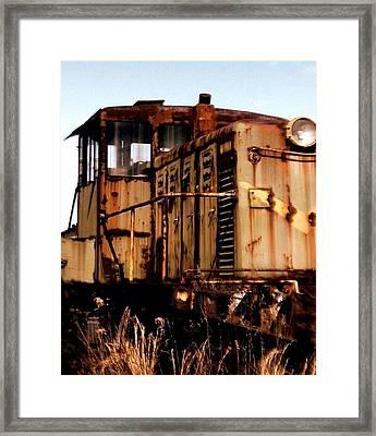 Abandoned Train Framed Print by Jen McKnight