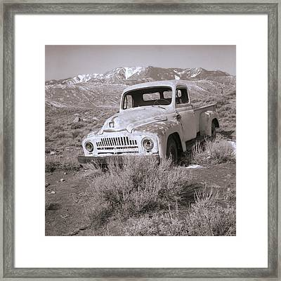 Abandoned Truck Framed Print by Janeen Wassink Searles