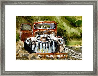 Abandoned Truck Framed Print by Shirley Sykes Bracken