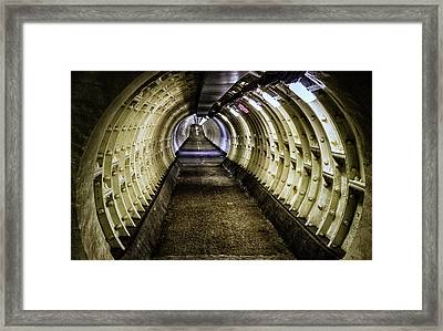 Abandoned Tunnel Framed Print by Martin Newman