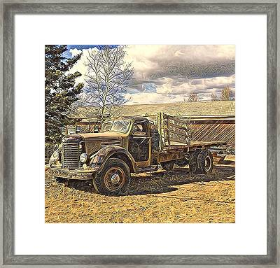 Abandoned Vehicle Canol Project 1945 Framed Print