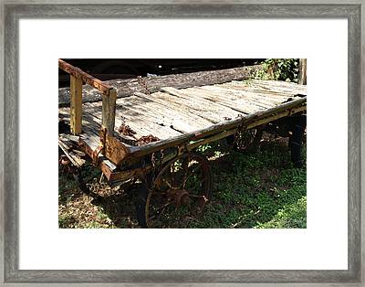 Abandoned Wagon Framed Print by Dennis Stein