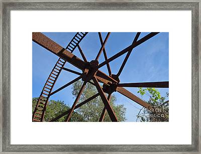 Abandoned Water Extraction Wheel Mechanism 2 Framed Print by Angelo DeVal