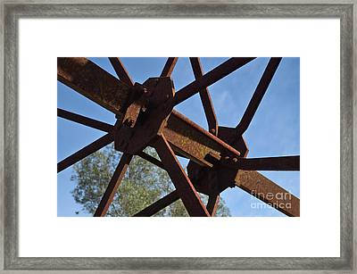 Abandoned Water Extraction Wheel Mechanism 3 Framed Print by Angelo DeVal