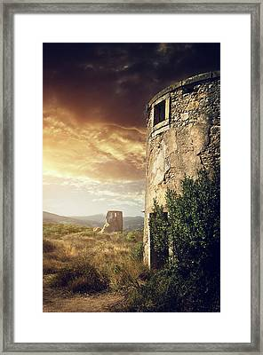 Abandoned Windmills Framed Print by Carlos Caetano
