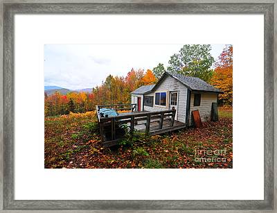 Abandoned With A View  Framed Print by Catherine Reusch Daley