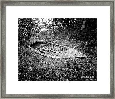 Framed Print featuring the photograph Abandoned Wooden Boat Alaska by Edward Fielding