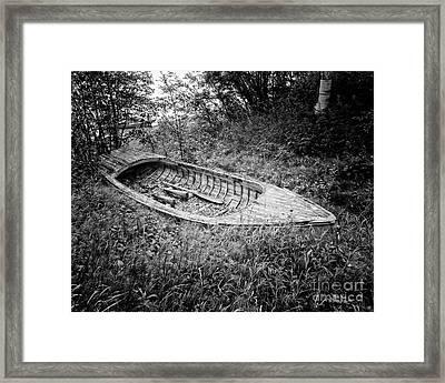 Abandoned Wooden Boat Alaska Framed Print