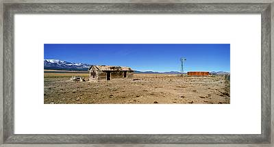 Abandoned Wooden Building, Route 50 Framed Print