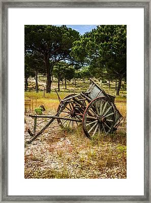 Abandoned Wooden Cart I Framed Print by Marco Oliveira