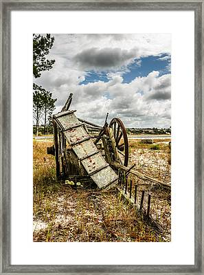 Abandoned Wooden Cart II Framed Print by Marco Oliveira