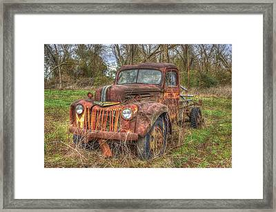 Abandonment 1947 Ford Stakebed Truck Art Framed Print by Reid Callaway