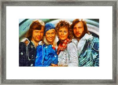 Abba At Eurovision 1974 - Da Framed Print by Leonardo Digenio