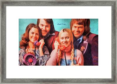 Abba Ring - Watercolor  Style Framed Print