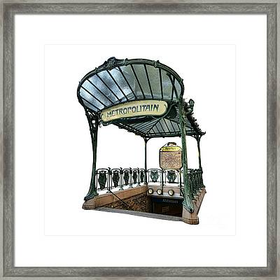 Abbesses  Framed Print by Olivier Le Queinec