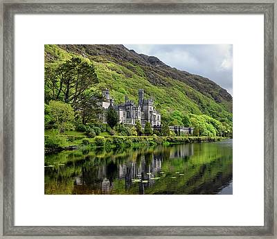Abbey By The Lake Framed Print
