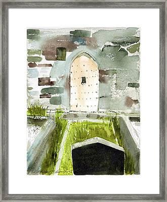 Abbey Door Framed Print