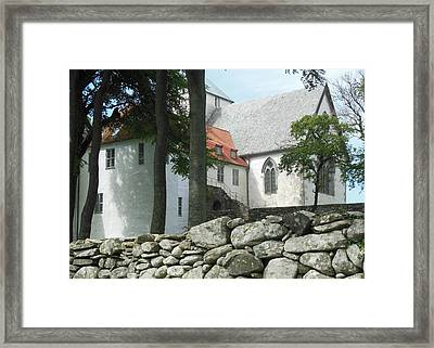 Abbey Exterior #2 Framed Print by Susan Lafleur