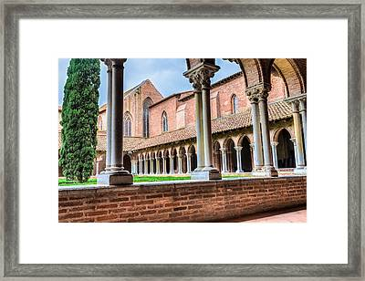 Abbey Insde Eglise Des Jacobins Or Church Of The Jacobins Framed Print