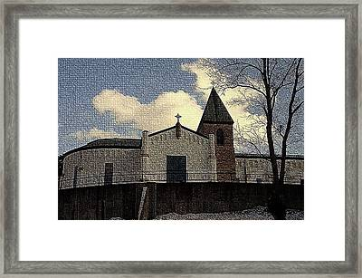 Abbey Of Gethsemani In Light Snow - Trappist Ky Framed Print