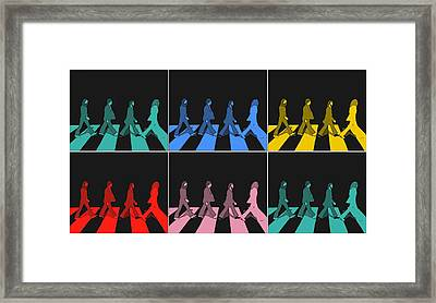 Abbey Road Pop Art Panels Framed Print by Dan Sproul