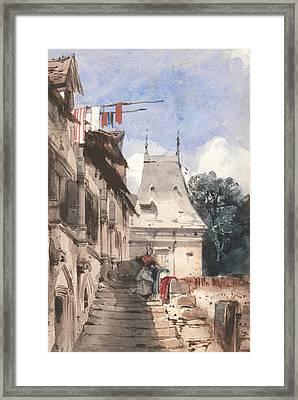 Abbey St-amand, Rouen Framed Print by Richard Parkes Bonington