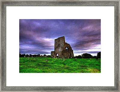 Abbeylara Abbey Framed Print by Kim Shatwell-Irishphotographer