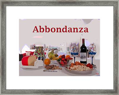 Abbondanza Framed Print