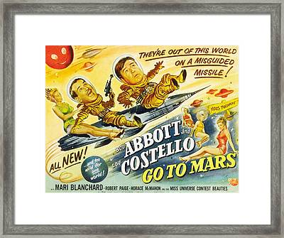 Abbott And Costello Go To Mars, Bud Framed Print