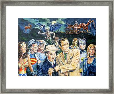 Abbott And Costello Meet The Justice Society Of America Framed Print