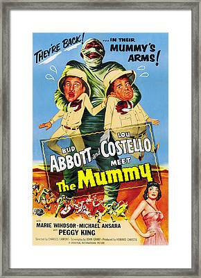 Abbott And Costello Meet The Mummy Aka Framed Print