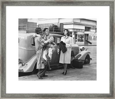 Abbott And Costello Framed Print
